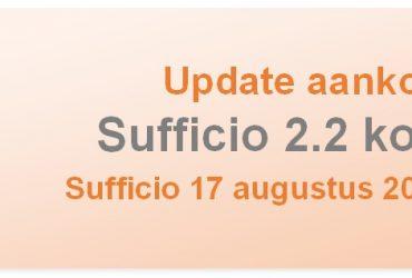 Sufficio-ontwikkelingen staan niet stil: update 2.2 komt eraan